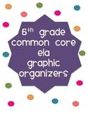 5th Grade ELA Graphic Organizers