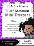 "5th Grade ELA ""I Can"" Statements (Kidoodles)"
