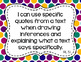 5th Grade ELA I Can Statements for CCSS Standards (Jewel Dots)