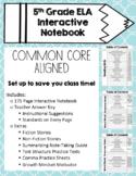5th Grade ELA Interactive Notebook - CCSS Aligned
