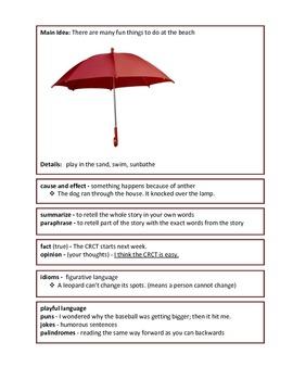 5th Grade ELA Language Arts CRCT Study Guide