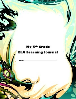 5th Grade ELA Learning Journal Common Core Aligned Student Tracking Progres