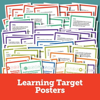 5th Grade ELA Learning Target, Data Tracking, & Goal Setting Bundle