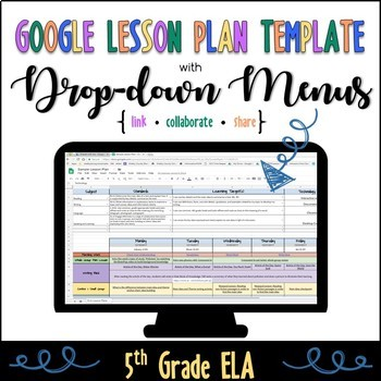 5th Grade ELA Lesson Plan Template