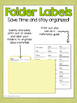 5th Grade ELA & Math CCSS Folder Labels **BUNDLE**