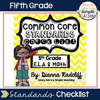 5th Grade ELA & Math Common Core Student Data Checklist