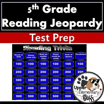 5th Grade ELA PSSA or STAAR Trivia Game Show- Jeopardy style review