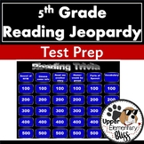 5th Grade ELA PSSA or STAAR Trivia Game Show- Jeopardy style review- editable
