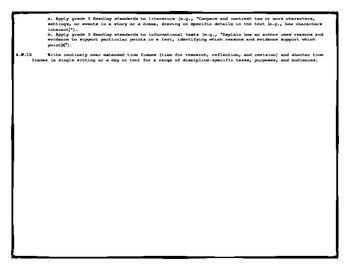5th Grade ELA Reference Sheet