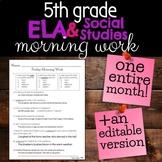 5th Grade ELA & Social Studies Morning Work/Review