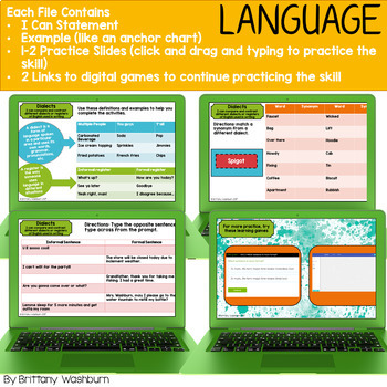 5th Grade ELA Standards Digital Resource Library BUNDLE