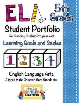 5th Grade ELA Student Portfolio Pages with Marzano Scales - FREE!