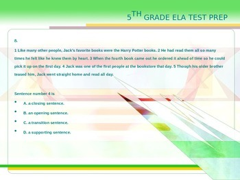 5th Grade ELA Test Prep