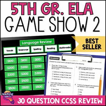 5th Grade ELA Test Prep Game Show, Reading Passages, & Practice Test VOLUME 2