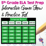 5th Grade ELA Test Prep Set: Paired Reading Passages, Game Show, & Practice Test