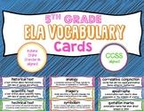 5th Grade ELA Vocabulary Cards
