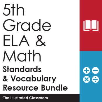 5th Grade ELA and Math Standards & Vocabulary Resource Bundle