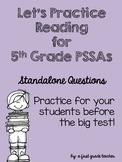 5th Grade ELA/Reading PSSA Questions