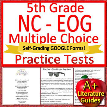 graphic relating to Printable 3rd Grade Eog Reading Practice Test identified as 5th Quality NC EOG Consider Prep Looking at Reviews North Carolina NC Geared up EOG