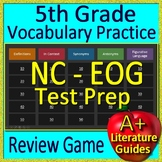 5th Grade NC EOG Reading Test Prep Vocabulary Practice Review Game