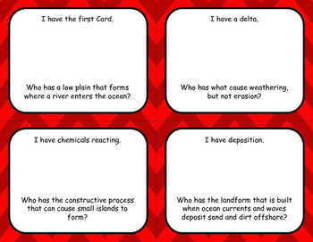 "5th Grade Earth Science ""I Have, Who Has"" Game"