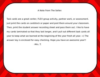 5th Grade Earth Science Task Cards