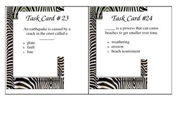 5th Grade Earth Science Task Cards ZEBRA