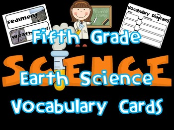5th Grade Earth Science Vocabulary Cards