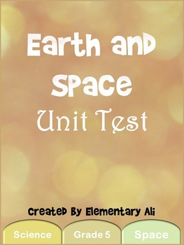 Earth and Space Unit Test (TEKS)