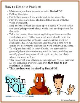 5th Grade - Earth's Spheres- for BrainPOP video