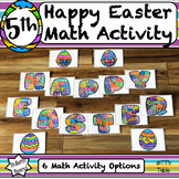5th Grade Easter Math Activity | Color by Code