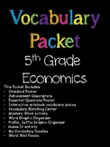 5th Grade Economics Vocabulary Packet