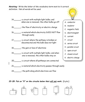 Electricity and magnetism worksheets 5th grade