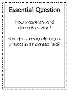 5th Grade Electromagnetism and Magnetism Vocabulary Packet