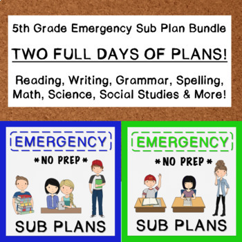 5th Grade Emergency Sub Plan Bundle (2 FULL days!)
