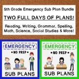 5th Grade Emergency Sub Plans (2 FULL days!)