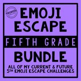 5th Grade Emoji Escape Bundle