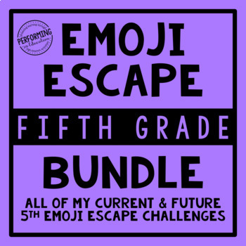 5th Grade Emoji Escape Bundle