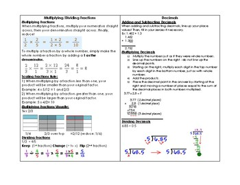 5th Grade End of Grade Test Study Guide- All Standards