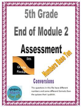5th Grade End of Module 2 Assessment - Editable