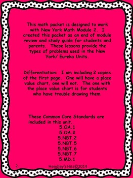 5th Grade End of Module 2 Review