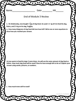 5th Grade End of Module 3 Review Eureka/ New York Math