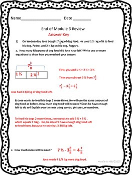 5th Grade End of Module 3 Review Eureka/ New York Math