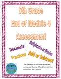 5th Grade End of Module 4 Assessment - Editable
