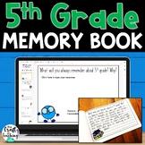 5th Grade Memory Book   Print and Digital