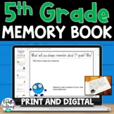 5th Grade Memory Book - End of Year Reflections | Digital Option