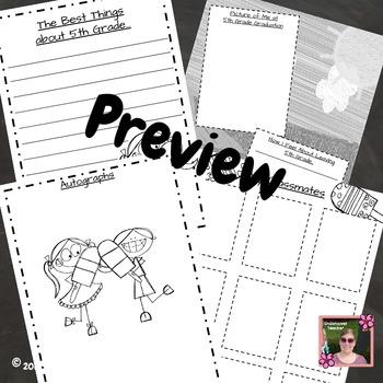 5th Grade End of Year Memory Book - No Prep