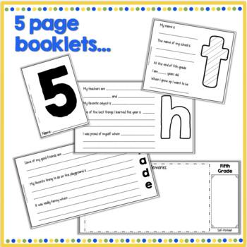 5th Grade End of Year Memory Flip Book
