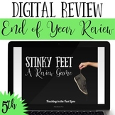 5th Grade End of Year Review Game Stinky Feet