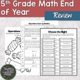5th Grade Spring Break Review Middle School Math